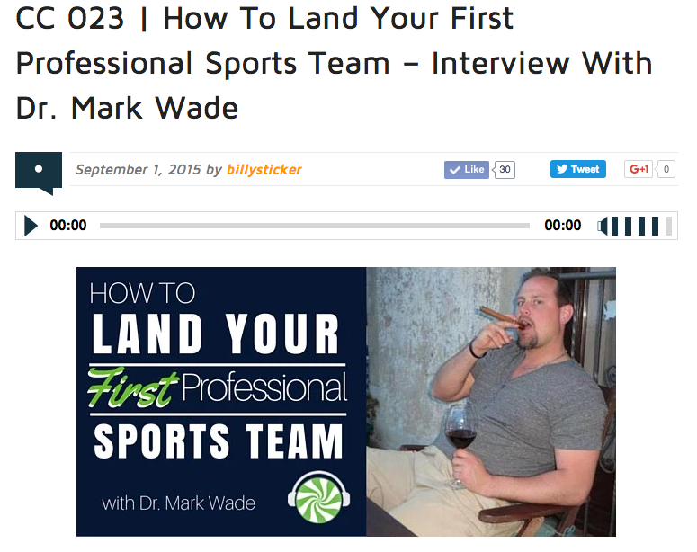 How To Land Your First Pro Sports Team